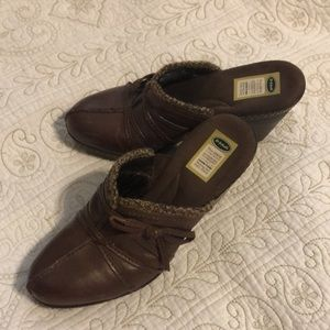 Dr Scholl's leather wedges NWOT